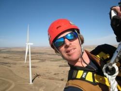 Matt catching some rays up tower